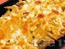 Рецепта Гратен от пиле и макарони с кашкавал на фурна